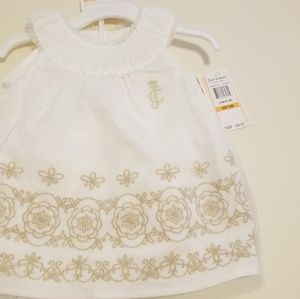 NWT Juicy Coutour dress with gold detail 12m